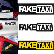 Sticker auto FakeTAXI Sign