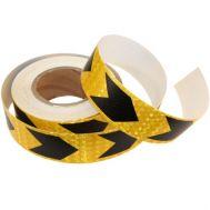 Banda reflectorizanta adeziva, SAGEATA, galben - negru