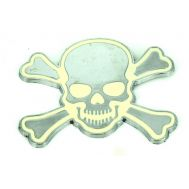 Emblema auto SKULL (CM2) (reliefata 3D) - cu banda adeziva