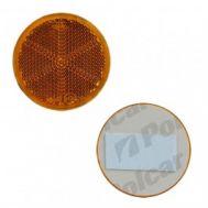 Catadioptru reflectorizant rotund orange universal partea dreapta/stanga banda adeziva, 59 mm , 1 buc.