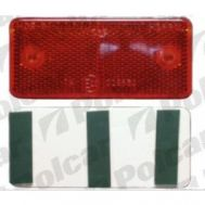 Catadioptru reflectorizant universal rosu partea dreapta/stanga 89x40x6mm banda adeziva
