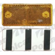 Catadioptru reflectorizant orange universal partea dreapta/stanga 89x40x6mm banda adeziva , dreptunghiulara , 1 buc.