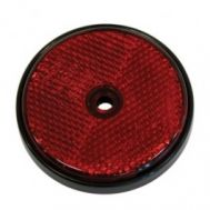 Catadioptru reflectorizant rotund rosu 60mm , 1 buc.