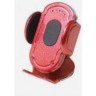 Suport auto Automax pentru telefon rosu, fixare cu banda adeziva
