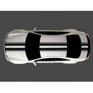 "Dungi auto Carbon 3D ""Racing Style"" lungime 3m, culori multiple (set 4 buc)"