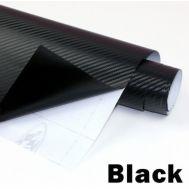 Folie colantare auto Carbon 3D - NEGRU (1m x 1,27m)