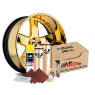 Kit reparatie jante, culoare GOLD (V2) - Aspect Cromat