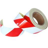 Banda reflectorizanta adeziva, alb - rosu