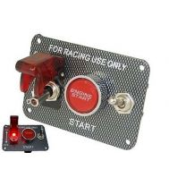 Buton pornire de tip RACING cu LED, cablaj si releu