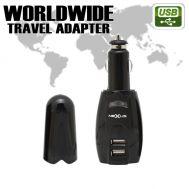 Adaptor de calatorie universala cu soclu 2 x USB, 4 x fisa pentru diferite retele + fisa bricheta