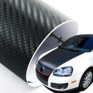 Folie Carbon 3D Professional pentru capota (1,50m x 1,52m) culori multiple