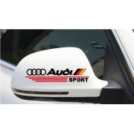 Sticker oglinda AUDI (set 2 buc.)