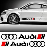 Sticker ornament auto lateral AUDI (set 2 buc.)