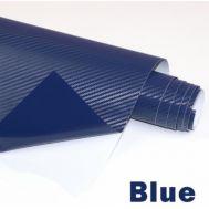 Folie colantare auto Carbon 3D - ALBASTRU (1m x 1,27m)