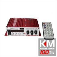 MINI amplificator auto, stereo, 40 W, radio FM, citire de pe USB sau card SD, MMC. (MR-S430U)
