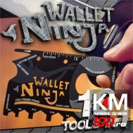 Card metalic Wallet Ninja - 18 in 1