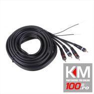 Cablu RCA conectare amplificator, 5m, + fir remote