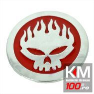 Emblema auto HEAD FLAMES (reliefata 3D) CP5 - cu banda adeziva