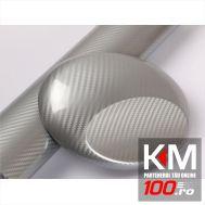 Folie colantare auto Carbon 5D - SILVER (1m x 1,50m)