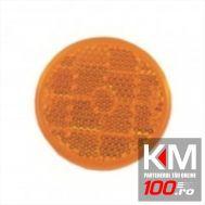 Catadioptru reflectorizant rotund Portocaliu universal fixare cu surub, 84 mm , 1 buc.