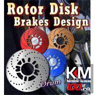 Fake Disk Brake - Capace pentru tamburi roti spate, culoare ALBASTRU