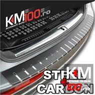 Protectie portbagaj, Crom + Carbon NEGRU (83 x 7,5cm)