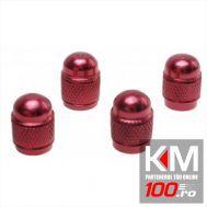 Set capacele auto Automax pentru ventil rotund rosu, 4 buc.