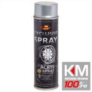 Spray vopsea Profesional CHAMPION Argintiu Metalizat pentru JANTE 500ml