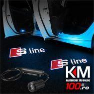 Proiectoare in portiera cu logo AUDI S-Line - NOU! 5 Watt (set 2 buc)