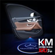 Proiectoare in portiera cu logo MERCEDES - NOU! 5 Watt (set 2 buc)