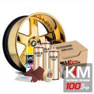 Kit reparatie jante, culoare GOLD (V3) - Aspect Cromat