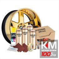 Kit reparatie jante, culoare GOLD (V4) - Aspect Cromat