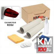 KIT COMPLET de polisare si protectie faruri - ROSU