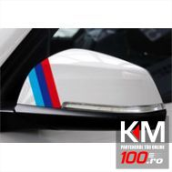 Sticker oglinda BMW Flag (3 buc - 35cm x 1cm)