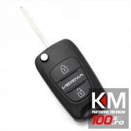 Hyundai Verna - Carcasa cheie tip briceag, 2 butoane