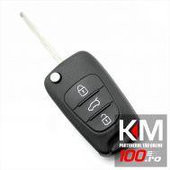 Hyundai - Carcasa cheie tip briceag, 3 butoane, lama pe stanga