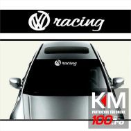 Sticker parasolar auto RACING (126 x 16cm)