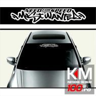 Sticker parasolar auto MOST WANTED (126 x 16cm)