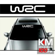 Sticker parasolar auto WRC (126 x 16cm)