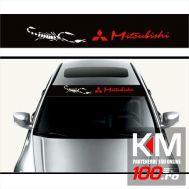 Sticker parasolar auto MITSUBISHI (126 x 16cm)