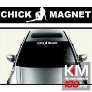 Sticker parasolar auto CHICK MAGNET (126 x 16cm)