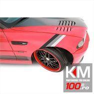 Sticker ornament auto model BMW ///M Power GREY (50cm x 18cm)