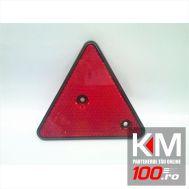 Catadioptru reflectorizant triunghi cu 4 triunghiuri rosii, fixare cu surub, inaltime 150 mm , 1 buc.
