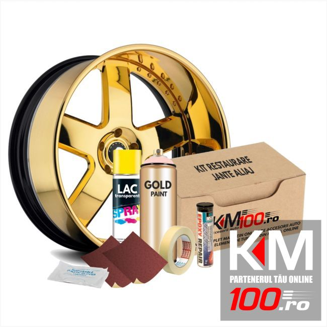 Kit reparatie jante, culoare GOLD (V1) - Aspect Cromat