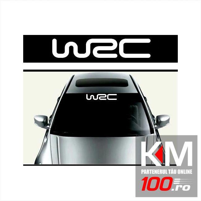 Sticker parasolar auto WRC (126 x 16cm)